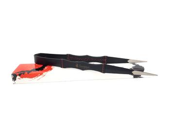 Щипцы для кальяна Samurai (чёрные, в коже)